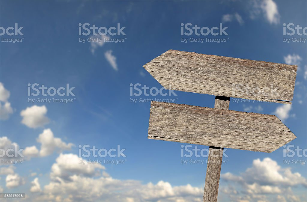 Blank rustic wooden sign stock photo