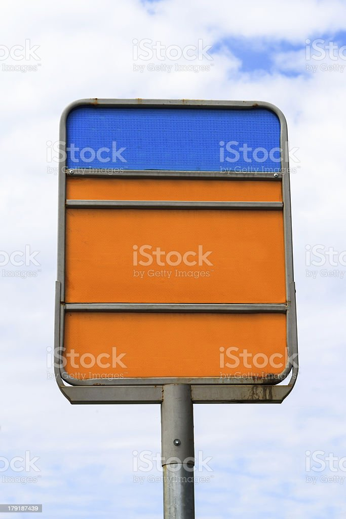 Blank Rusty Sign Board royalty-free stock photo