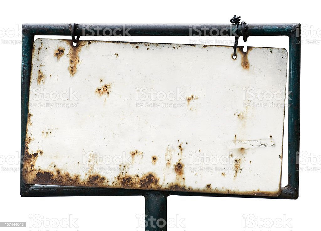 Blank rusty sign stock photo