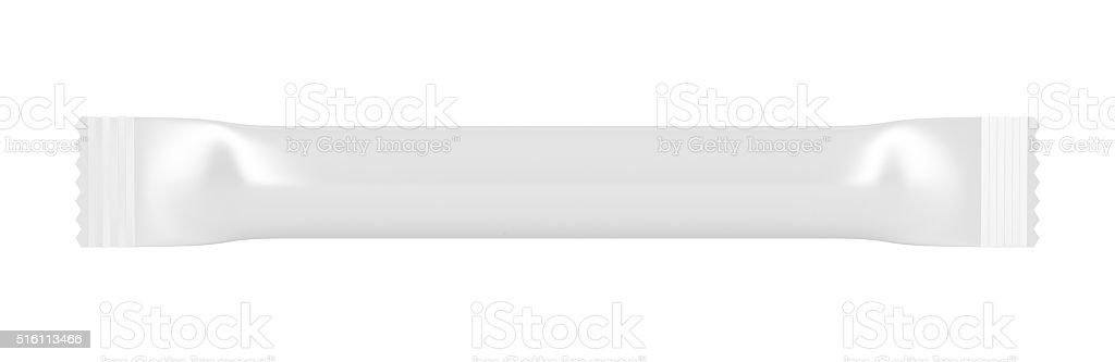Blank sachet isolated on white stock photo