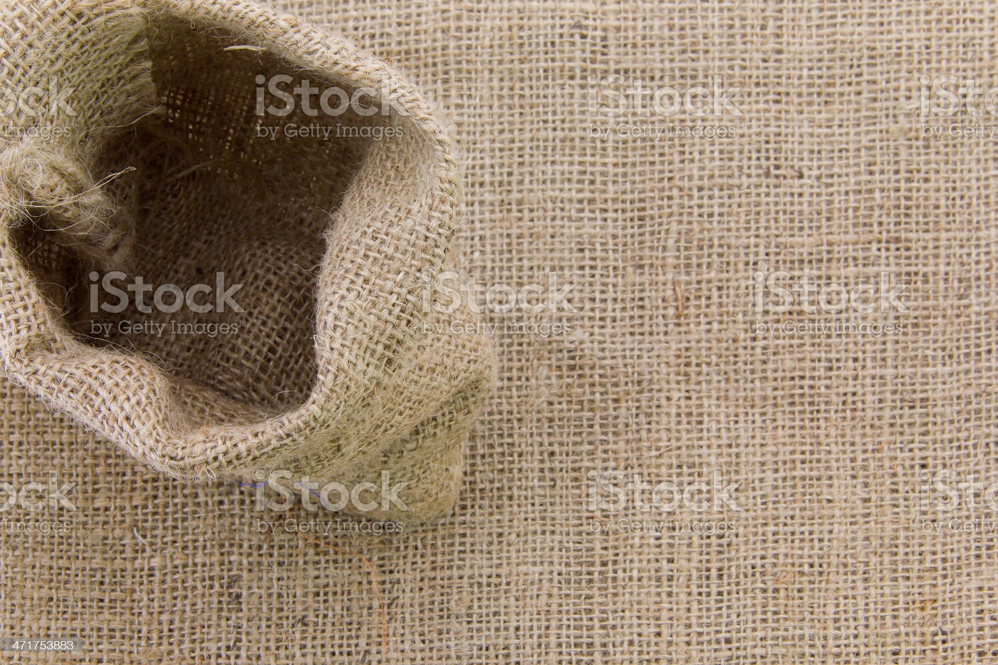 Blank Sack Bag royalty-free stock photo