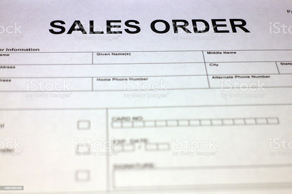 Blank Sales Order Form Pictures, Images And Stock Photos - Istock