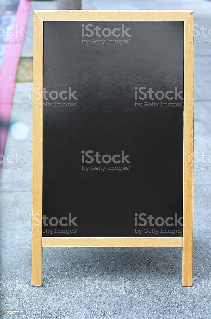 Blank sandwich board sign royalty-free stock photo