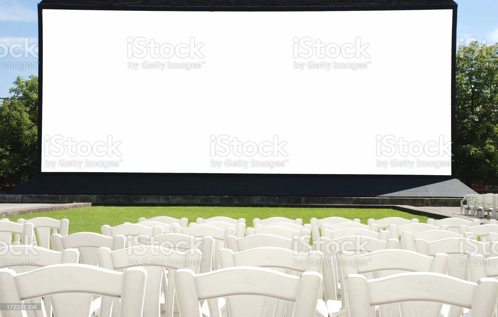Blank screen royalty-free stock photo