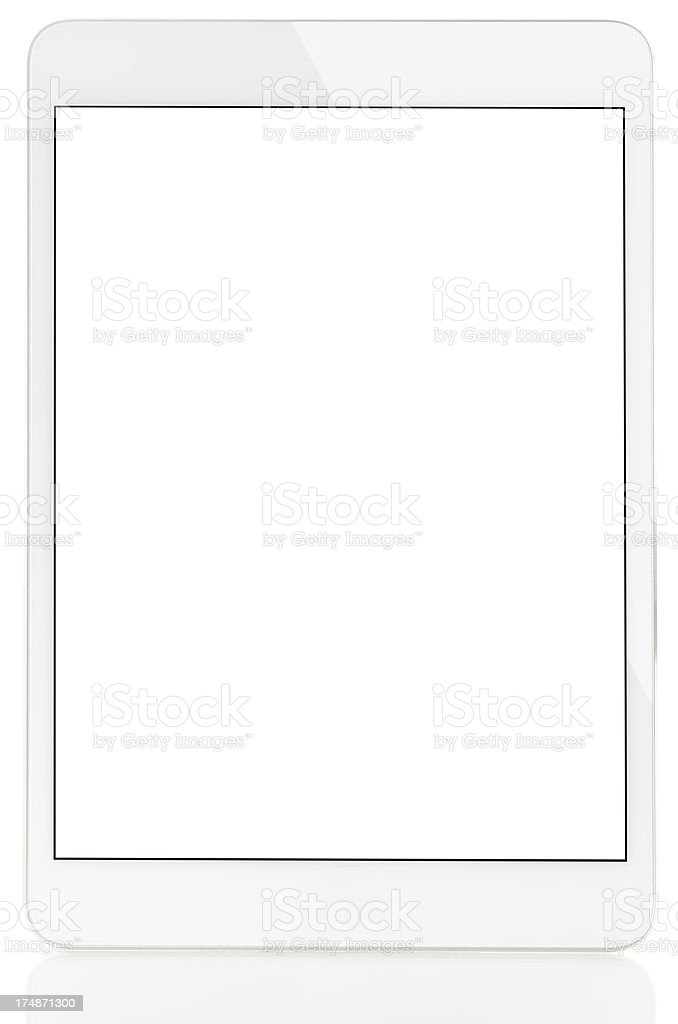 Blank screen tablet pc royalty-free stock photo