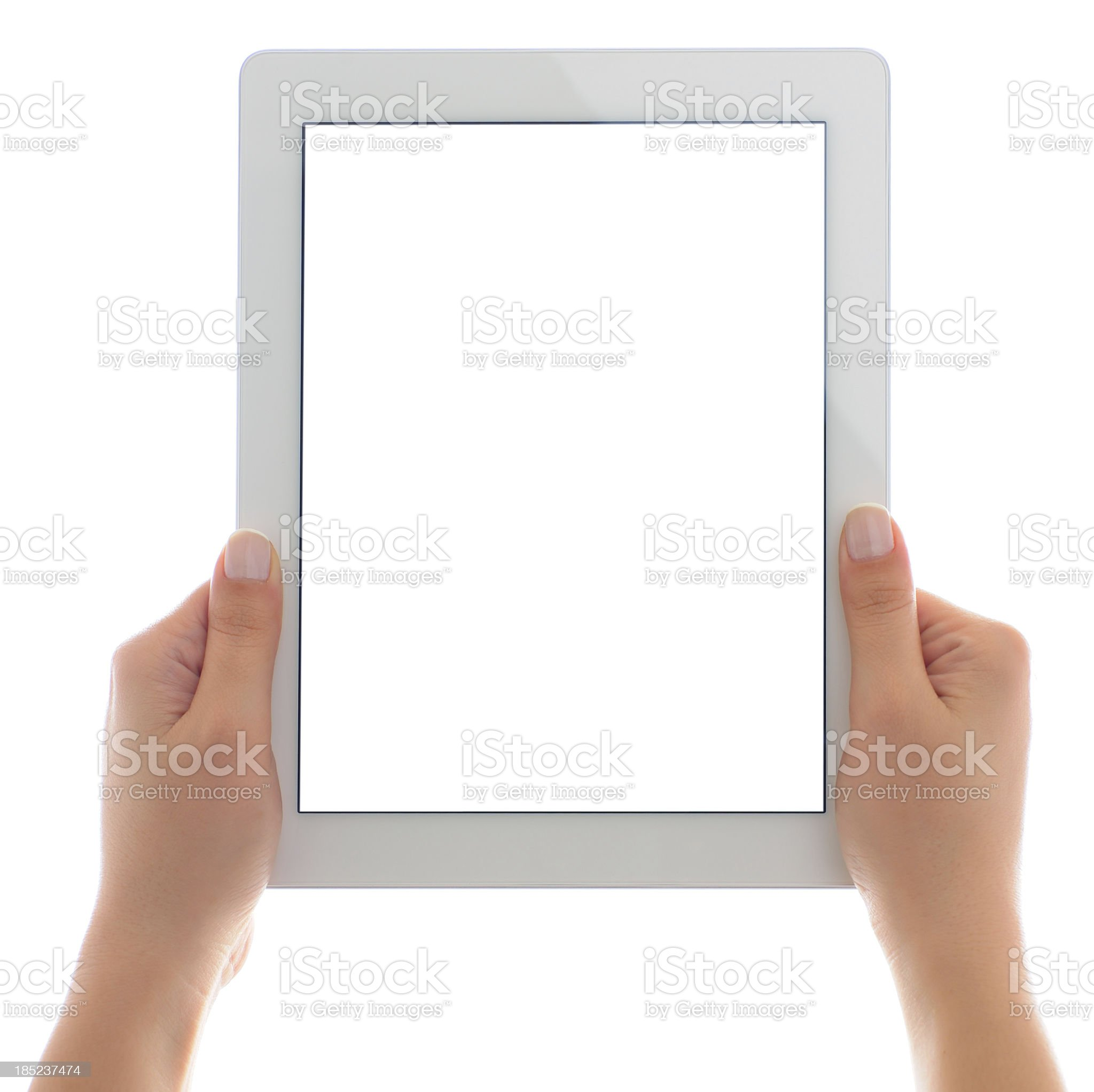 Blank screen white tablet pc royalty-free stock photo