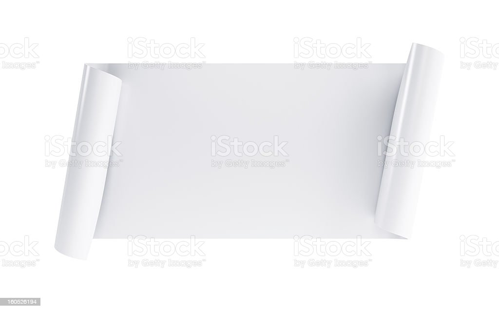 blank scroll royalty-free stock photo