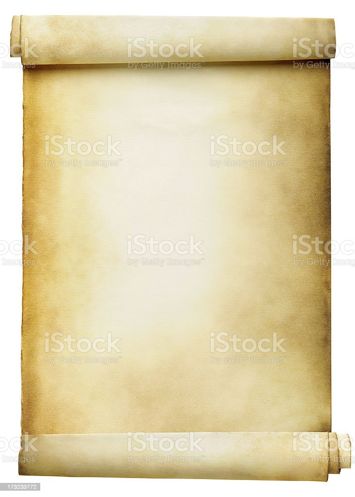 Blank Scroll stock photo