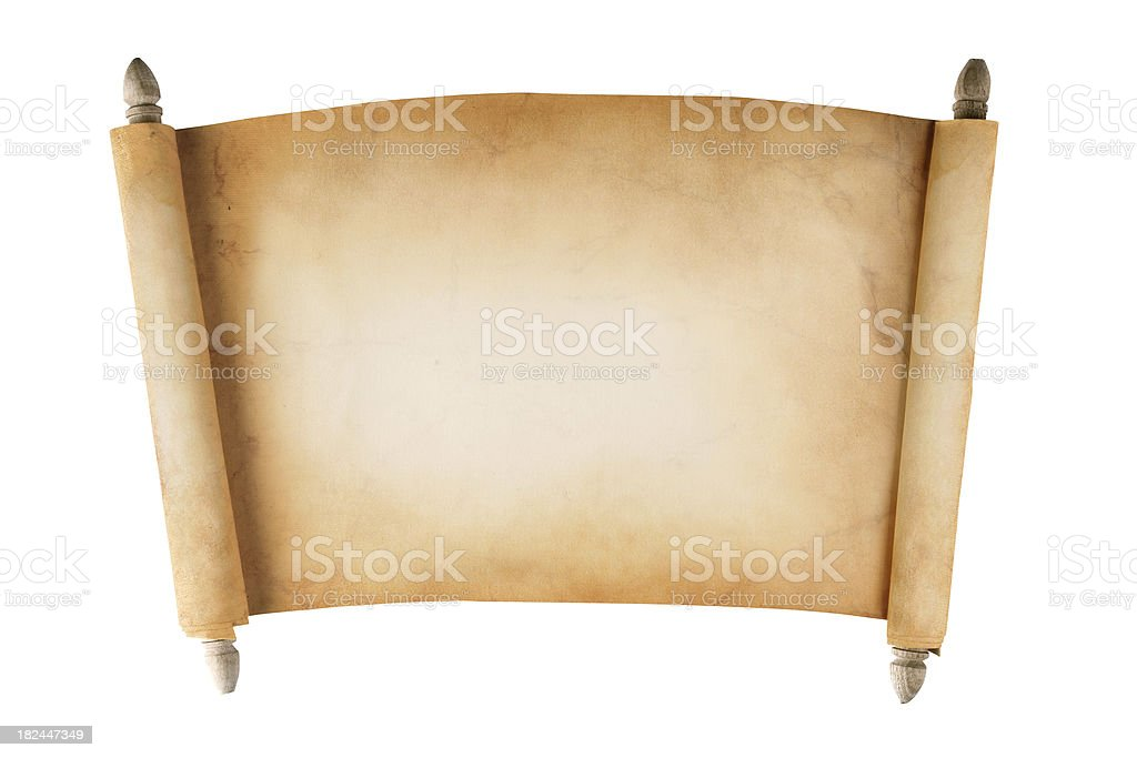 Blank Scroll royalty-free stock photo