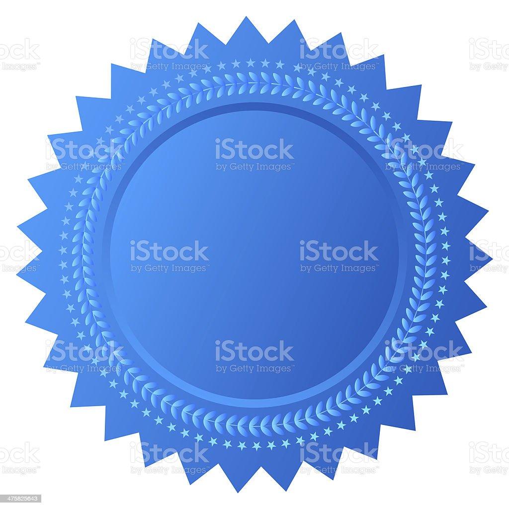 Blank seal stock photo