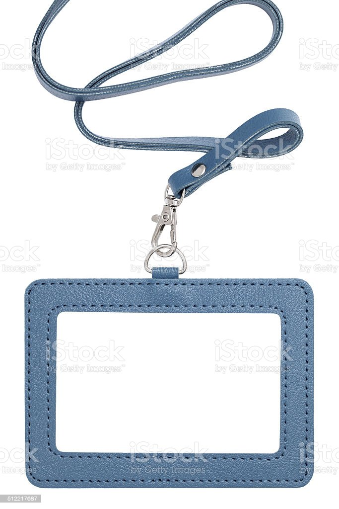 Blank security badge stock photo