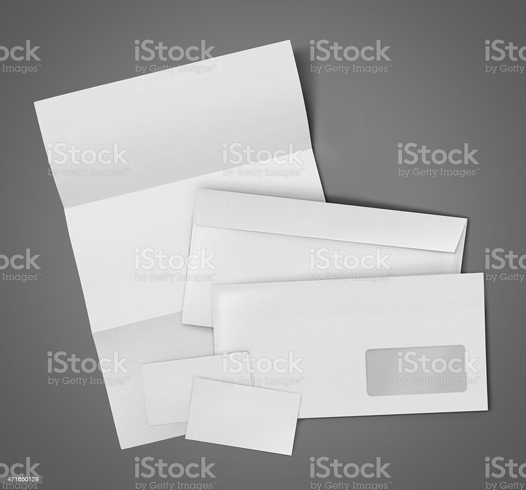 Blank Set Stationery Corporate ID royalty-free stock photo