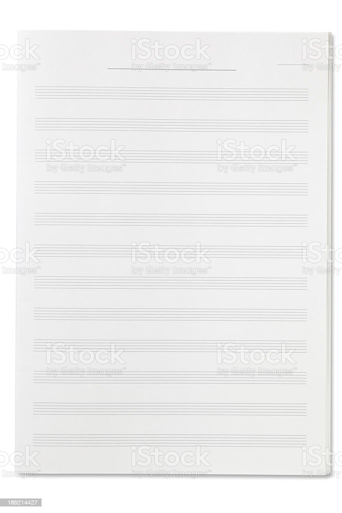 Blank Sheet Music royalty-free stock photo