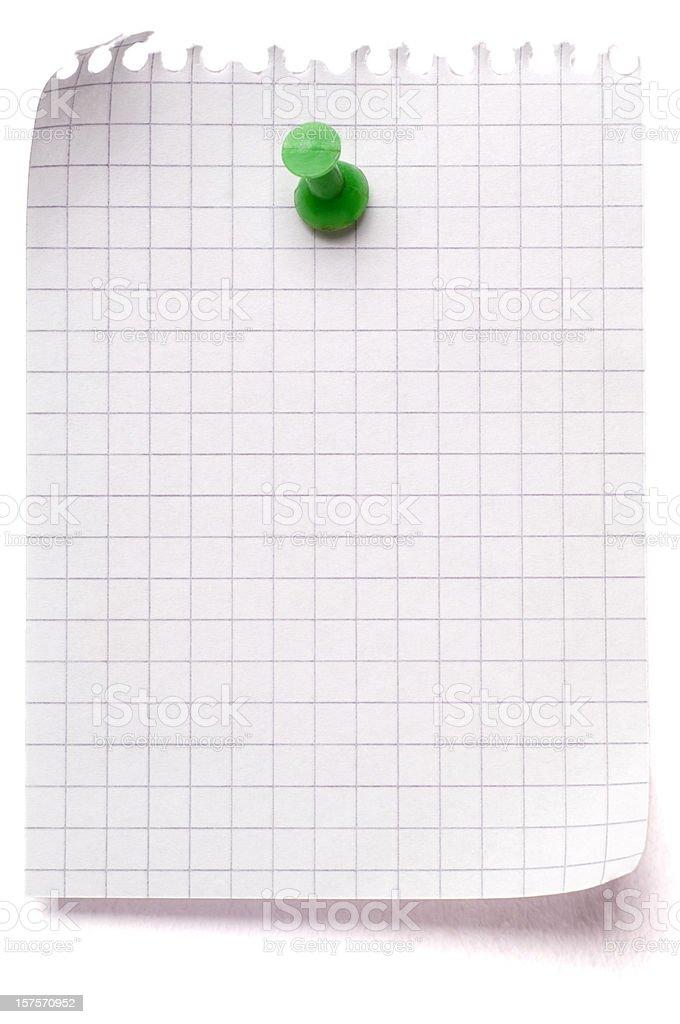 Blank sheet of maths paper royalty-free stock photo