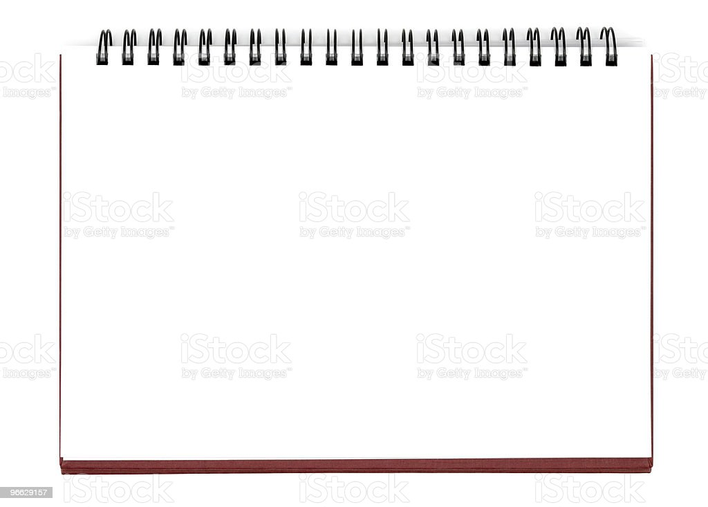 Blank Sheet Of Notebook stock photo