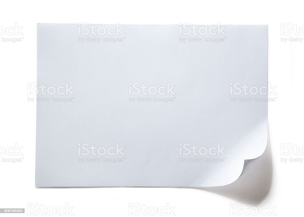 Blank sheet of paper stock photo