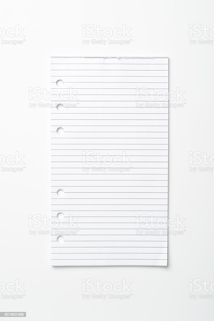 Blank sheet stock photo