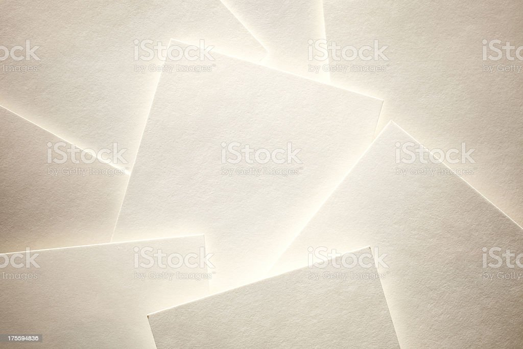 Blank sheets of paper or photographs stock photo