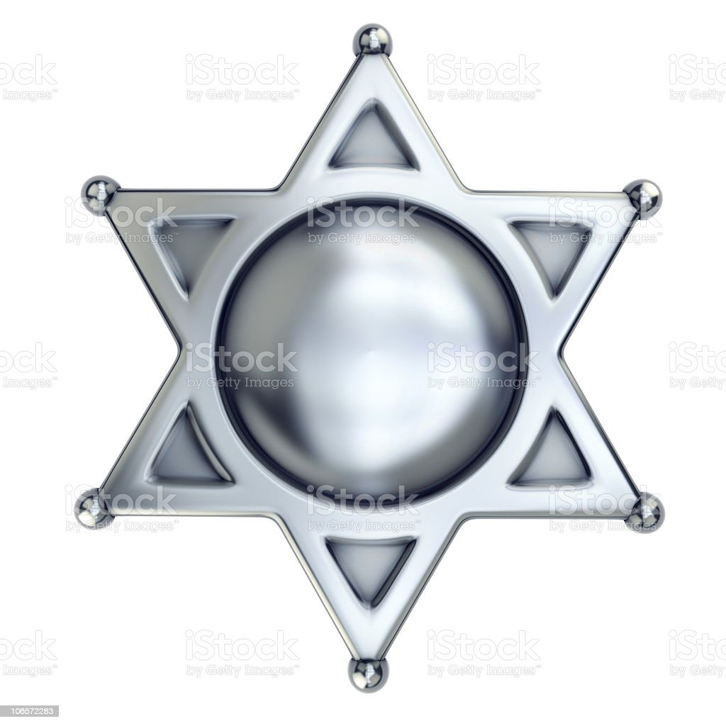 blank sheriff badge stock photo
