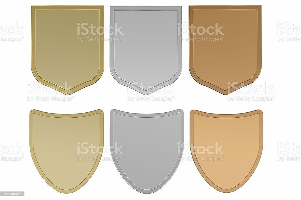 Blank Shields royalty-free stock photo