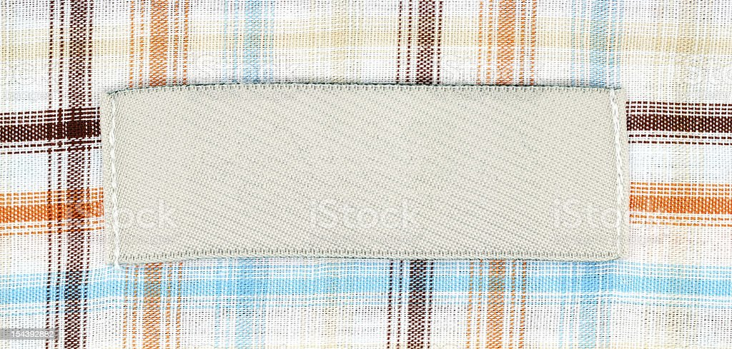 Blank shirt label royalty-free stock photo
