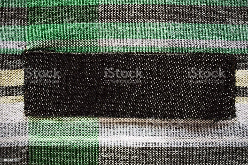 Blank shirt label royalty-free stock photo