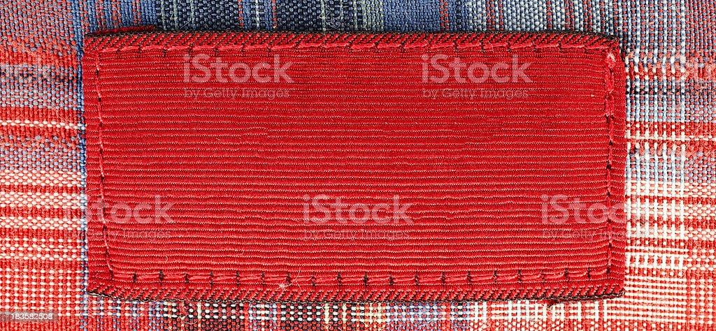 Blank shirt label stock photo