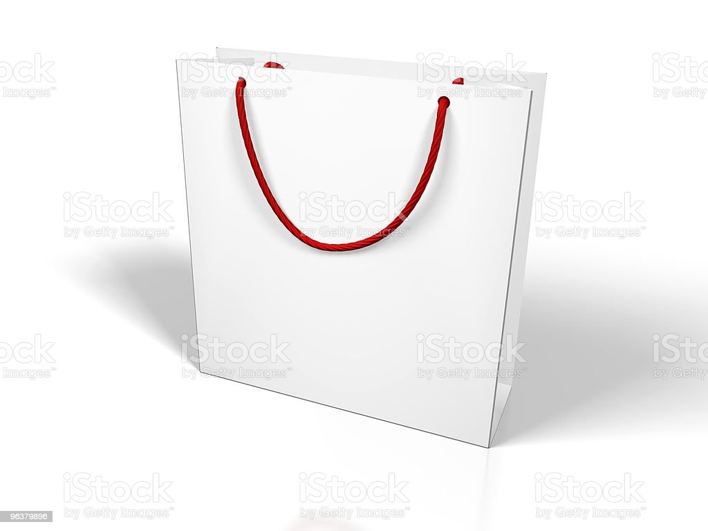 Blank shopping Bag royalty-free stock photo