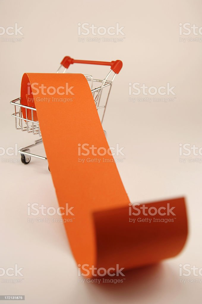 blank shopping list in cart royalty-free stock photo