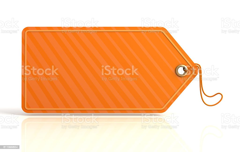 blank shopping tag concept  3d illustration stock photo