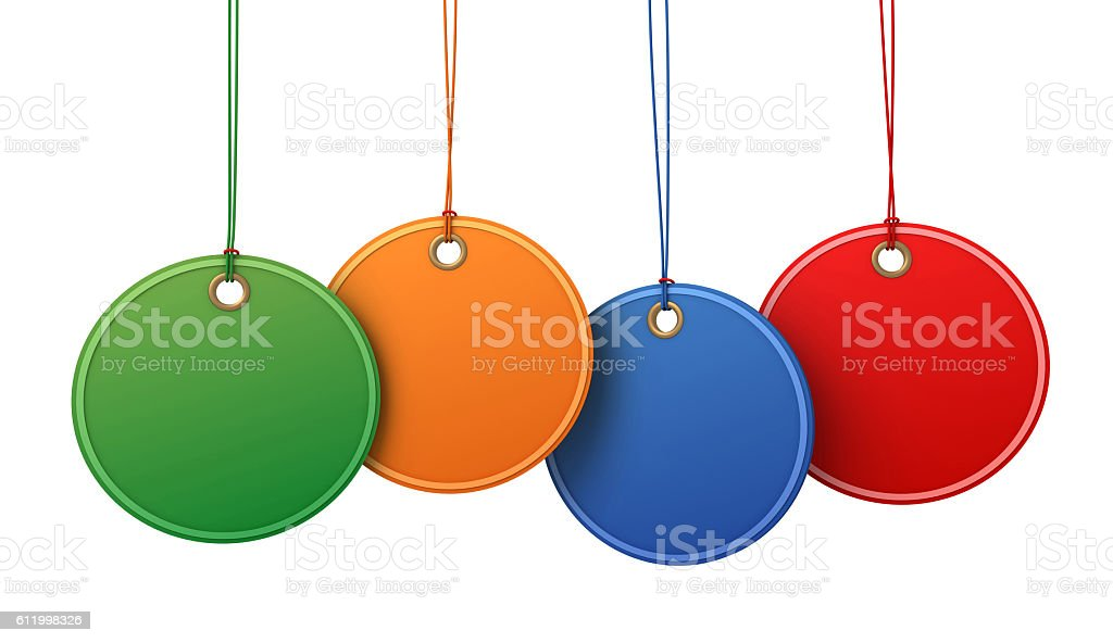 blank shopping tags concept  3d illustration stock photo