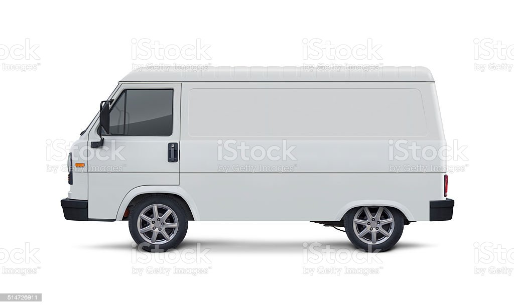 Blank Side Delivery Van stock photo