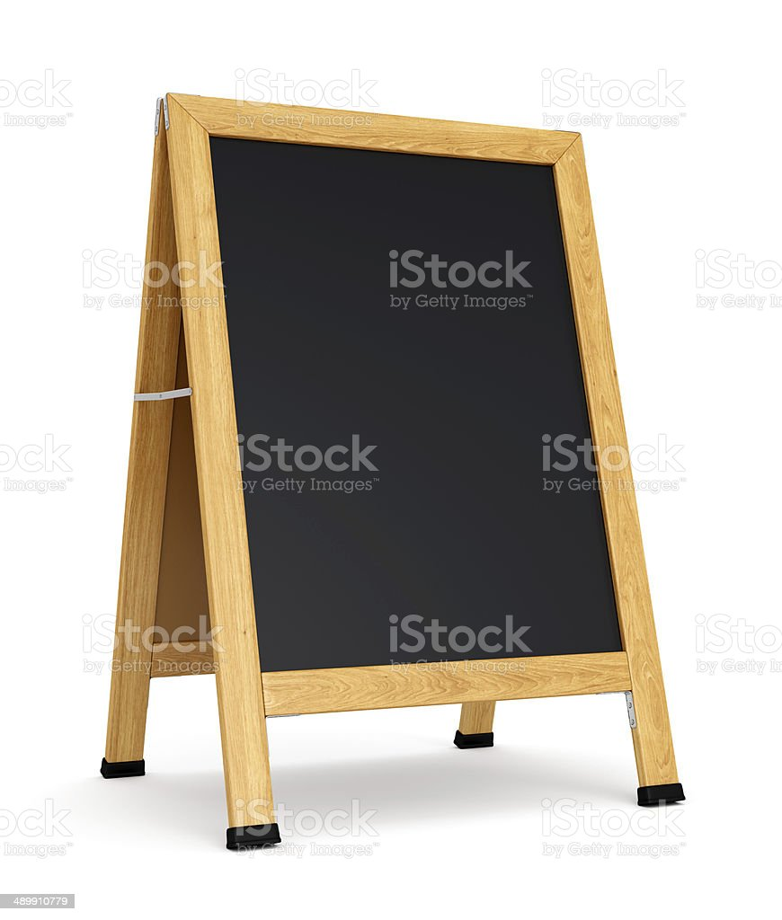 Blank sidewalk sign stock photo