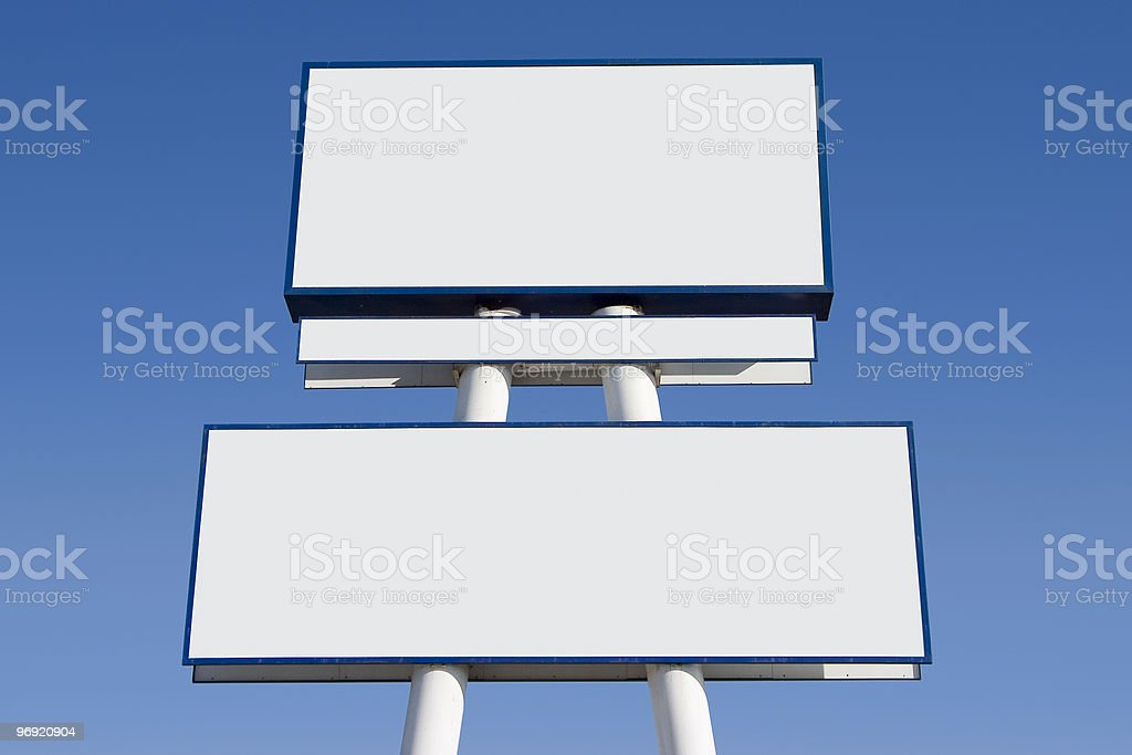 Blank Sign 2 royalty-free stock photo