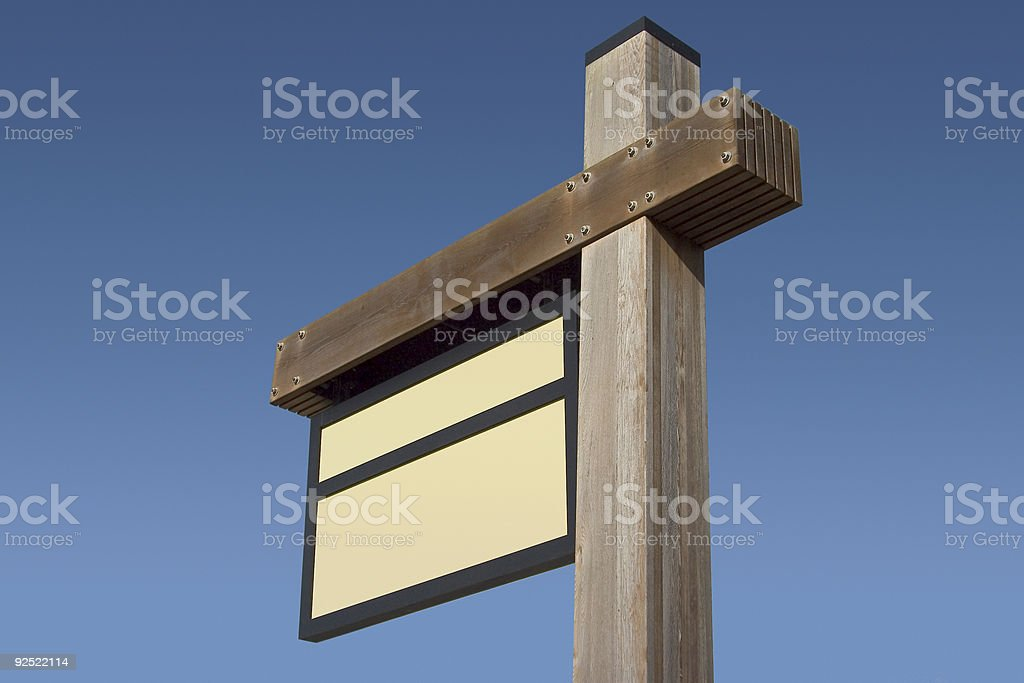 Blank Sign 3 royalty-free stock photo