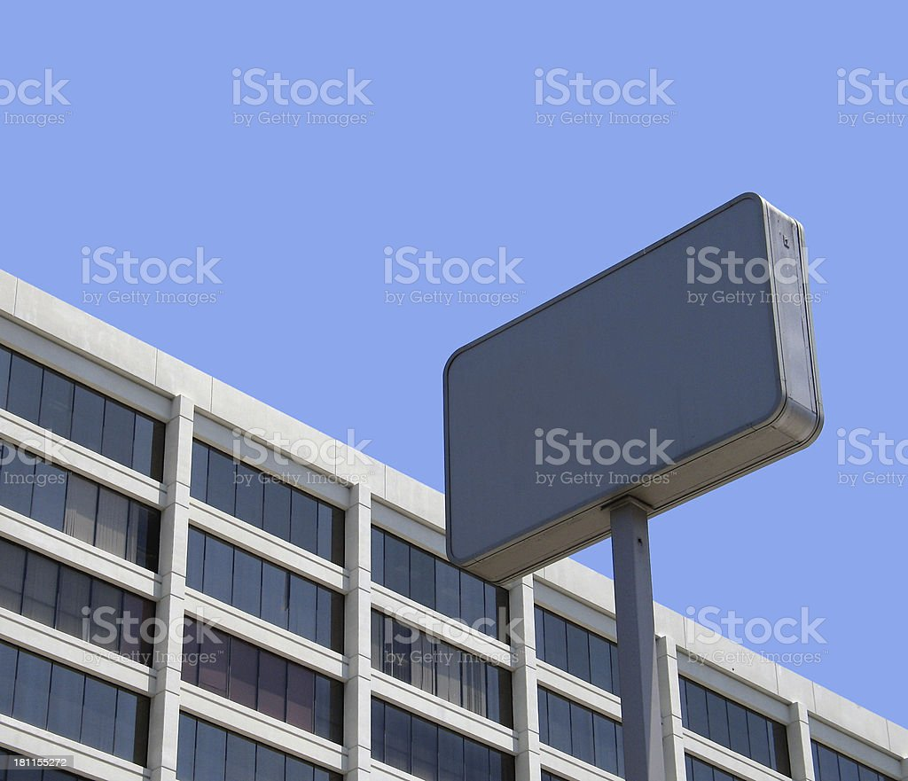 Blank Sign and Building royalty-free stock photo