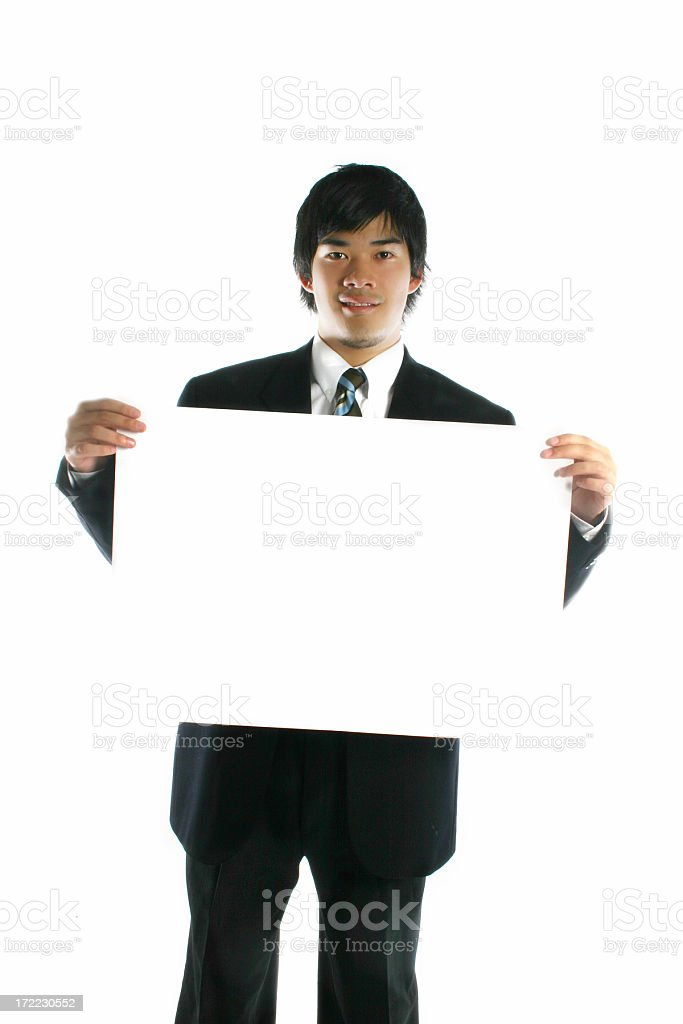 Blank Sign - Businessman royalty-free stock photo