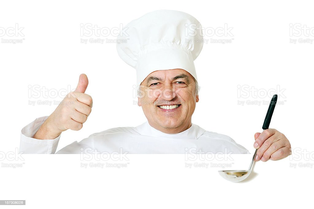 Blank sign - Chef (on white) royalty-free stock photo