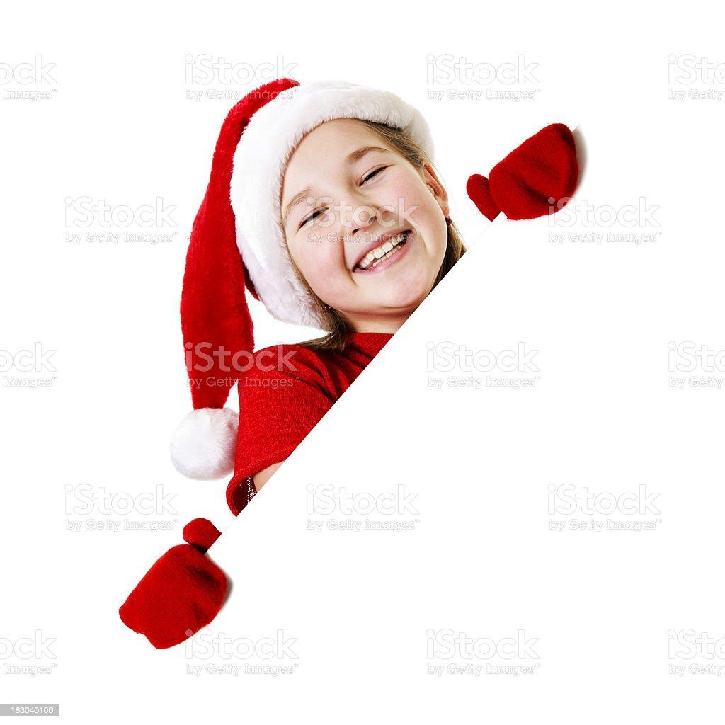 Blank sign - Christmas royalty-free stock photo