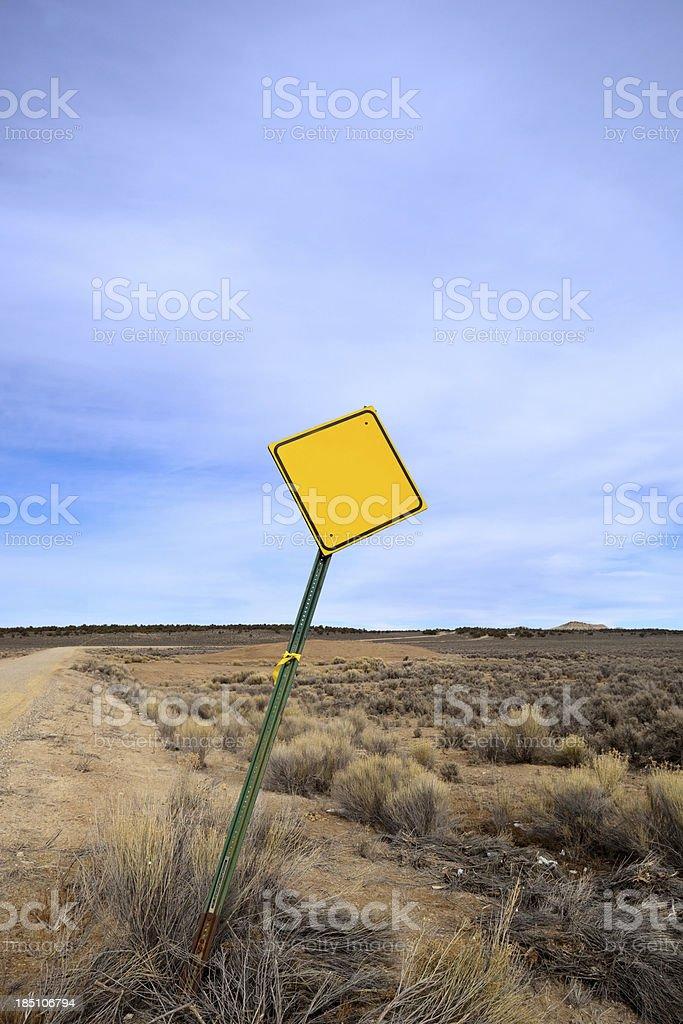 blank sign desert landscape sky stock photo