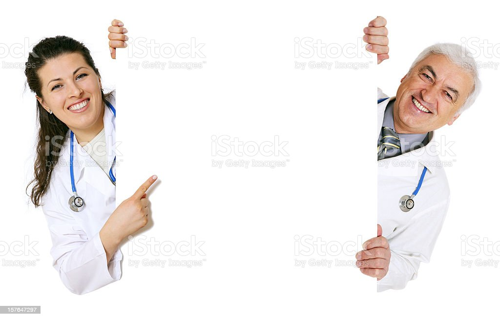 Blank sign - Doctors (on white) royalty-free stock photo