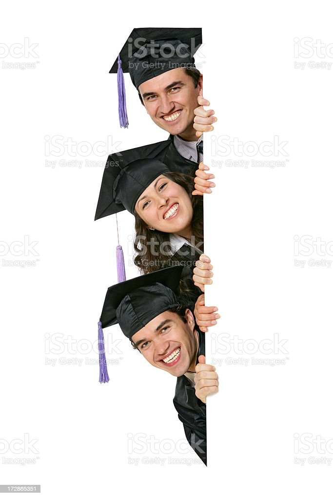 Blank sign - Graduates (on white) royalty-free stock photo