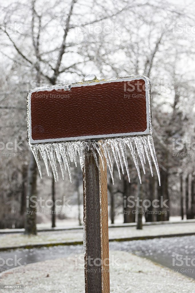 Blank Sign Icicles royalty-free stock photo