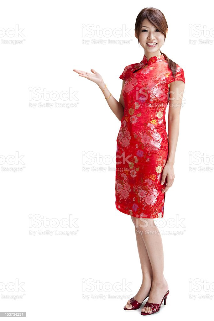 Blank sign - Oriental women stock photo