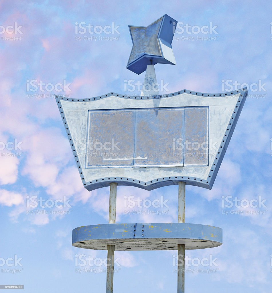 blank sign stock photo