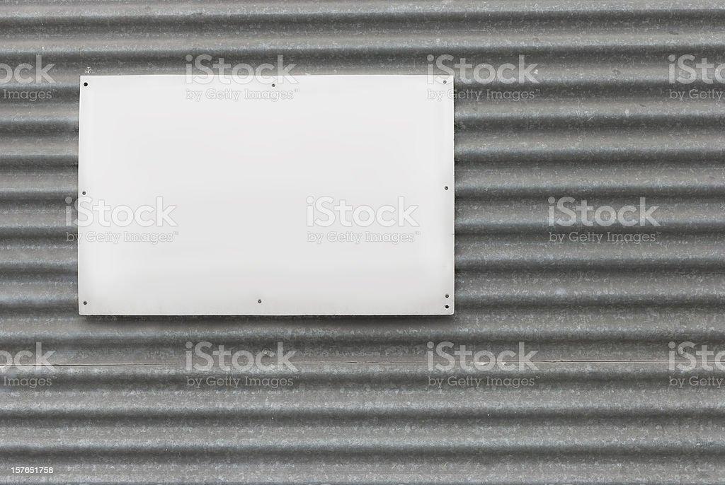 Cartel en blanco - foto de stock