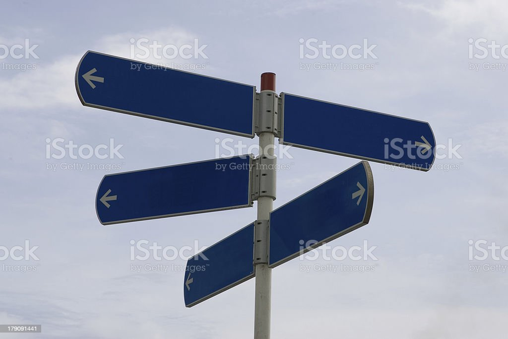 Blank Sign Post royalty-free stock photo