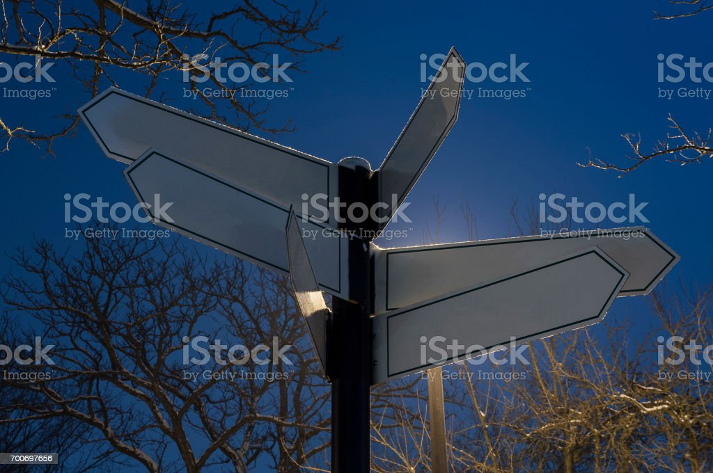 Blank sign post stock photo