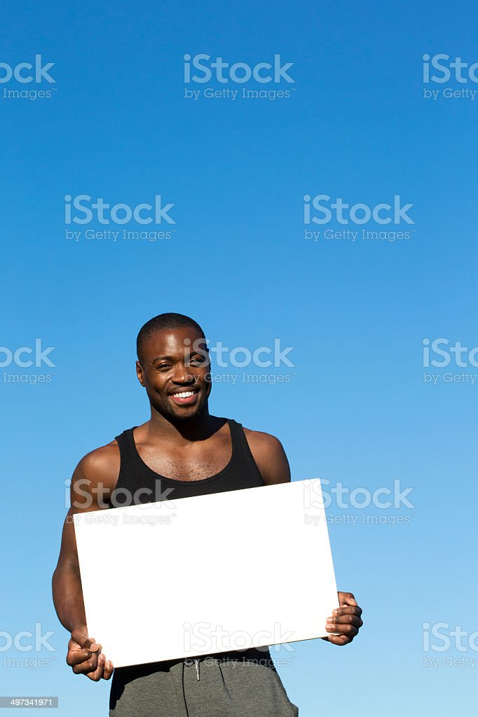 Blank Sign - Sportsman royalty-free stock photo