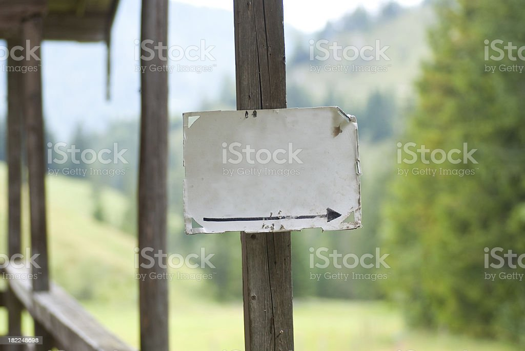 blank sign with arrow to the right royalty-free stock photo
